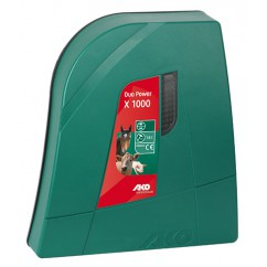 Verkko- ja akkukäyttöinen sähköpaimen AKO Duo Power X1000 (12V/230V)