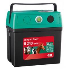 Verkko- ja akkukäyttöinen sähköpaimen AKO CompactPower B240-Multi (9V/12V/230V)