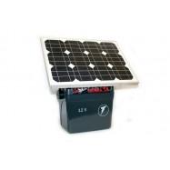 Verkko- ja akkukäyttöinen sähköpaimen SecurSun aurinkokennolla