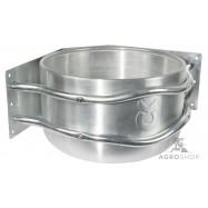 Aluminium ruokintakaukalo kulmaan Ø35cm 18l